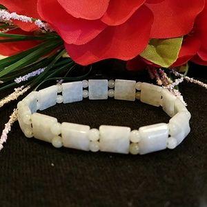 Jewelry - GREEN JADE STRETCH BRACELET